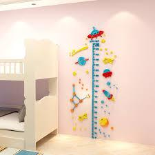 3d Ufo Rocket Height Measure Wall Sticker Baby Kids Rooms Growth Chart Nursery Room Decor Wall Art Decorating Nursery Walls Baby Boy Room Wall Decor