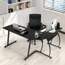 office corner desk coavas l shaped office wood desk large corner pc gaming desk