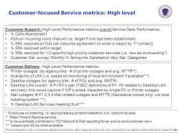 customer focused service metrics high level