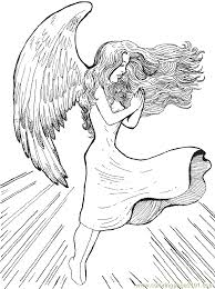 Small Picture Christmas Angel Coloring Page 15 Coloring Page Free Angel
