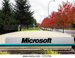 photo microsoft office redmond washington. sign at the entrance to microsoft head office campus in redmond washington usa photo