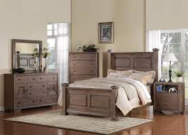 Distressed Bedroom Furniture Sets Equinox Poster Bedroom Set In Distressed Ash