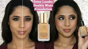 estee lauder double wear foundation cashew demo review 7 hour wear test arzan s