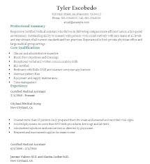 Medical Assistant Resumes And Cover Letters Best Medical Assistant Resumes Professional Resume Sample