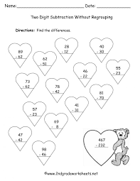 Two Digit Subtraction Withg Fun Worksheets Coloring Sheet ...