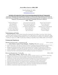 Confortable Resume Sample For Project Manager In Software About