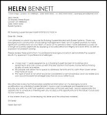 Build Cover Letters Building Superintendent Cover Letter Sample Cover Letter Templates
