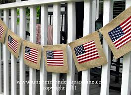 4th of july burlap flag banner diy