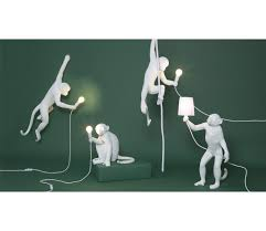 Seletti Lamp Monkey Sitting White