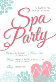 Spa Party Invites Rome Fontanacountryinn Com
