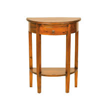 mahogany village half round console table  console tables