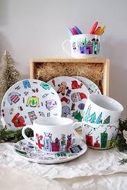 color burst diy plates mugs holiday gifts