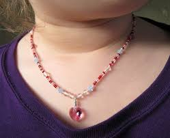 princess jewelry pink swarovski heart necklace magnetic clasp product images of