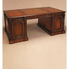 compatible furniture. Maitland-Smith Dark Burnished Laurel Burl And Crotch Veneer Computer Compatible Desk, Leather Top Furniture U