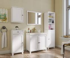 Badezimmer Kommode Weiß Unterschrank Bad Möbel Schrank Badezimmer