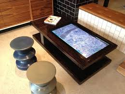 interactive coffee table collection in touch screen coffee table multi touch coffee table designs interactive interiors