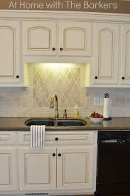 white painted kitchen cabinets. Stylish Painting Kitchen Cabinets Antique White Painted At Home With The Barkers O