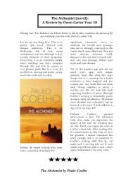 the alchemist unit rationale book review paulo coelho the alchemist