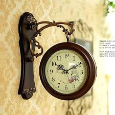 french wall clock double sided wall clock nostalgic french wall clock vintage nostalgic wall decoration french