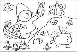 Kleurplaat Pompom Pasen Knutselen Kleuters Lente Sketch Coloring Page