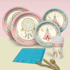 Dream Catcher Party Plates Sweetest Dreams Birthday Party Supplies Theme Party Packs 1