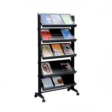 Free Standing Literature Display Cool Floor Standing Mobile Literature Display Single Sided With 32N32XX