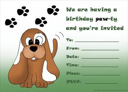 kids birthday party invitations printable st birthday printable birthday invitation cute puppy and paw prints