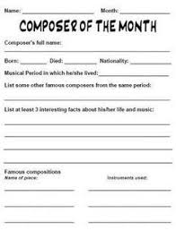 best research paper outline template ideas composer of the month worksheet research paper outlineworksheetsmusic classcomposershomeschooltemplates