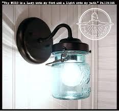 wall sconce light fixtures mason jar sconce light vintage blue pint jar pair art nouveau wall sconce light fixtures