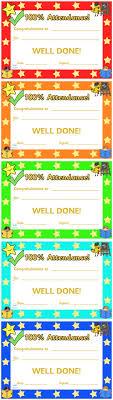 Best 25 Attendance Certificate Ideas On Pinterest Certificate