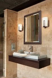 Bathroom Light bathroom lighting sconces : Bathroom: Modern Wall Sconce Applied Above Bathroom Vanity For ...