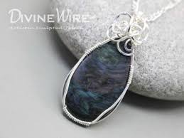 rohr rainbow obsidian wire wrapped pendant