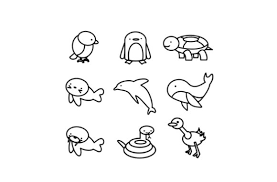 Hi draw so cute fans, get your free coloring pages of my draw so cute characters here. Cute Animals Coloring Page Graphic By Centtaro Product Creative Fabrica