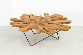 zenporium teak root cross section coffee table large 4