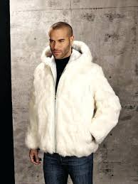 mens faux fur jacket genuine rabbit fur hooded jacket white mens padded jacket with faux fur mens faux fur jacket