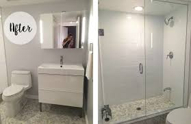 Small Picture Grey White Small Bathroom Renovation Before After gray white