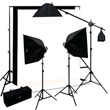best lighting kit for photo studio boom light background support black white dslr
