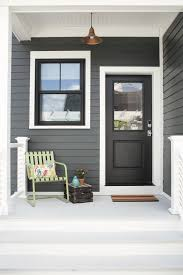 black exterior white trim black frames