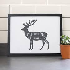 Venison Butcher Print Deer Cuts Venison Print Venison Butcher Chart Venison Butcher Diagram Meat Cuts Print Kitchen Art But001