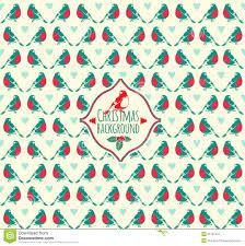 vintage christmas pattern.  Christmas Vintage Vector Christmas Pattern With Bullfinch Winter Bird Pat In Pattern I