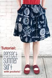 Skirt Patterns With Pockets New Tutorial Perfect Summer Skirt With Pockets RedHandled Scissors
