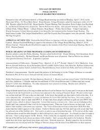 April 7, 2014 Village Board Minutes