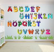alphabet letters stickers nursery