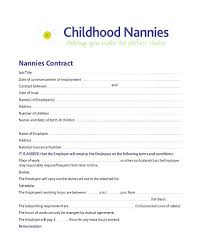 Nanny Contracts Impressive Employment Contract Template Canada Chaseeventsco