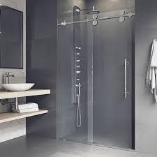 vg6041chcl6474 elan 64 x 74 single sliding semi frameless shower door