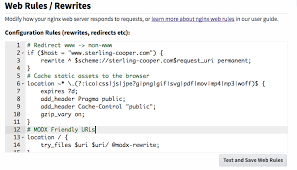 Nginx Web Rules & Rewrites – MODX Cloud Support