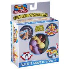 ZOOB BuilderZ <b>15 Piece Glow</b> Pastel – The Red Balloon Toy Store