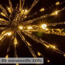 80 Led Meteor Stern Warm Weiß 40 Cm Trafo Timer