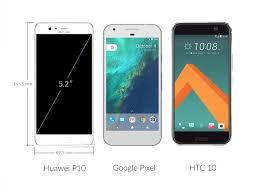 huawei 10p. huawei p10 vs google pixel, iphone 7, p9, galaxy s7 edge, htc 10: preliminary size comparison 10p