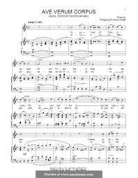 ave verum corpus sheet music ave verum corpus k 618 by w a mozart sheet music on musicaneo